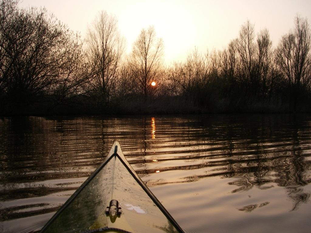 Sonnenuntergang auf der Ochtum