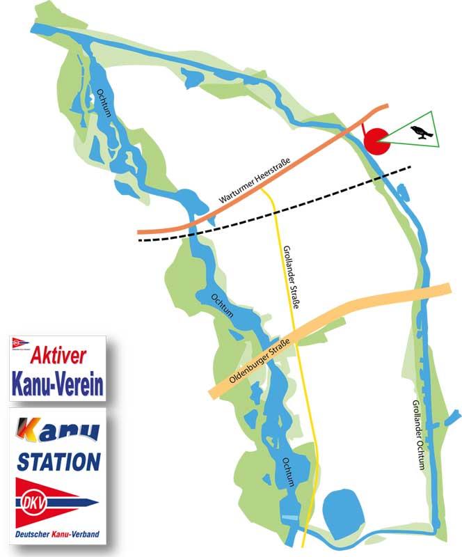 """Das Revier des Wassersport-Club """"Fink"""" e.V. Bremen"""